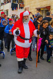 Desfile de la Navidad, parte del día de fiesta de días de fiesta en Haifa Foto de archivo libre de regalías