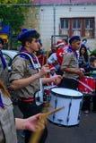 Desfile de la Navidad, parte del día de fiesta de días de fiesta en Haifa Imagenes de archivo