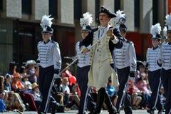 Desfile de la precipitación de Calgary - la demostración al aire libre más grande en la tierra, Calgary, Alberta, Canadá Foto de archivo