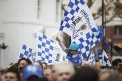 Desfile de la taza de Chelsea Champions League Fotos de archivo