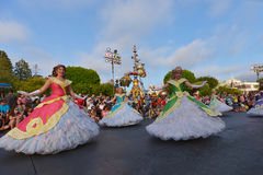 Desfile de la tierra de Disney Fotos de archivo libres de regalías