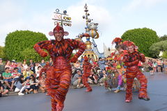 Desfile de la tierra de Disney Imagen de archivo