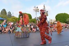 Desfile de la tierra de Disney Foto de archivo