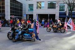 Desfile de la ventaja de los jinetes de la libertad Foto de archivo libre de regalías