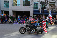 Desfile de la ventaja de los jinetes de la libertad Fotografía de archivo