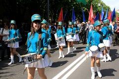 Desfile de la victoria Imágenes de archivo libres de regalías