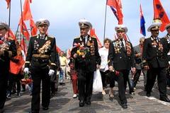 Desfile de la victoria Imagen de archivo libre de regalías