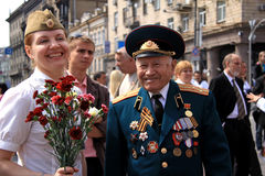 Desfile de la victoria Imagen de archivo