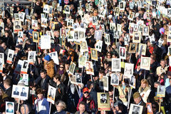Desfile de la victoria en St Petersburg Imagenes de archivo