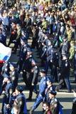 Desfile de la victoria en St Petersburg Fotos de archivo