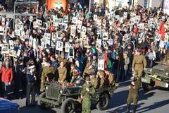 Desfile de la victoria en St Petersburg Imágenes de archivo libres de regalías