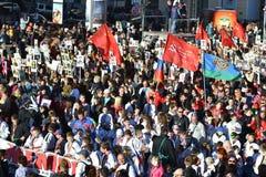 Desfile de la victoria en St Petersburg Fotografía de archivo