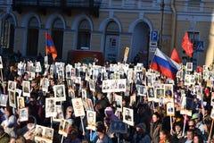 Desfile de la victoria en St Petersburg Foto de archivo libre de regalías