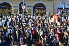 Desfile de la victoria en St Petersburg Fotografía de archivo libre de regalías