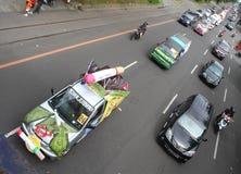Desfile de las ambulancias ornamentales Fotografía de archivo