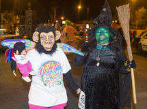 Desfile de Las Vegas Halloween Imagen de archivo