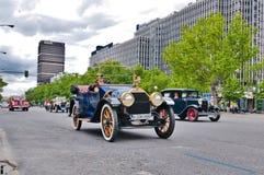 Desfile de los coches del vintage, Madrid, España Fotografía de archivo