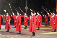 Desfile de los cosacos de Kuban del ruso Foto de archivo