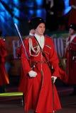 Desfile de los cosacos de Kuban del ruso Fotografía de archivo