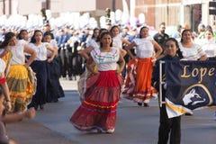 Desfile de los días del ` s Charro de los niños de BISD foto de archivo