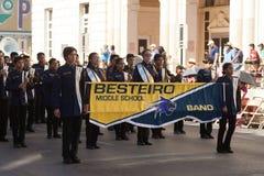 Desfile de los días del ` s Charro de los niños de BISD fotografía de archivo