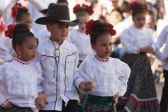 Desfile de los días del ` s Charro de los niños de BISD fotos de archivo libres de regalías