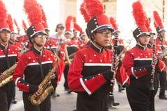 Desfile de los días del ` s Charro de los niños de BISD foto de archivo libre de regalías