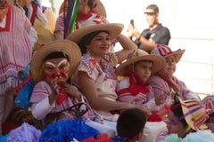Desfile de los días del ` s Charro de los niños de BISD imagen de archivo