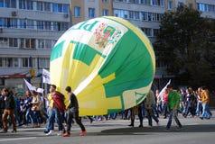 Desfile de los estudiantes en Moscú Foto de archivo libre de regalías