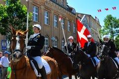 Desfile de los jinetes, Sonderborg, Dinamarca (2) Foto de archivo libre de regalías