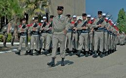 Desfile de los legionarios franceses Foto de archivo libre de regalías