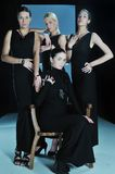 Desfile de moda da mulher fotos de stock royalty free