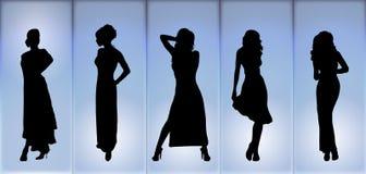 Desfile de moda da noite Fotos de Stock Royalty Free