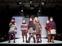 Desfile de moda das crianças Fotos de Stock Royalty Free