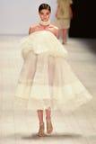 Desfile de moda de Jessica Van Imágenes de archivo libres de regalías