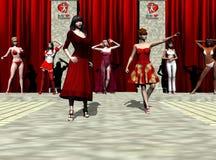 Desfile de moda de la tarjeta del día de San Valentín Imágenes de archivo libres de regalías
