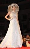 Desfile de moda do casamento Fotos de Stock Royalty Free