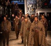 Desfile de moda 2019 de Joseph Abboud Mens Fall como parte del New York Fashion Week imagen de archivo libre de regalías