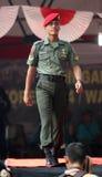 Desfile de moda militar Imagen de archivo libre de regalías