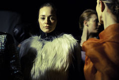 Desfile de moda terrestre de Elise Imagenes de archivo