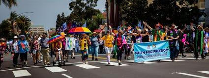 Desfile de orgullo de San Diego LGBT 2017 Foto de archivo libre de regalías