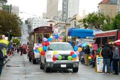Desfile de Pascua en San Francisco, calle de la unión Imagen de archivo libre de regalías
