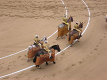 Desfile de Piccadors a caballo Foto de archivo