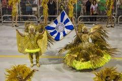 Desfile de Samba School 2013 - Sao Paulo Fotos de archivo libres de regalías