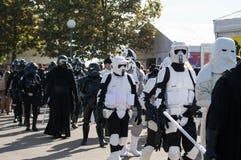Desfile de Star Wars en los tebeos 2016 de Lucca Fotografía de archivo