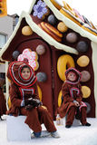 Desfile de Toronto Papá Noel del flotador de la casa de pan de jengibre Fotografía de archivo