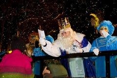 Desfile de tres hombres sabios Foto de archivo libre de regalías