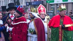 Desfile de tres hombres sabios Imagen de archivo