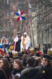 Desfile de tres hombres sabios Fotografía de archivo