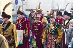 Desfile de tres hombres sabios Fotos de archivo